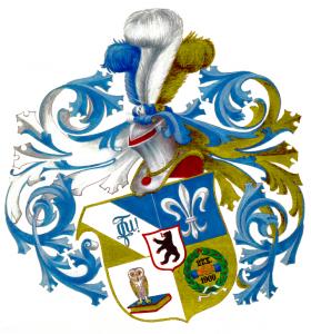 Wappen der Unitas Berlin mit unseren Prinzipien Virtus-Scienecia-Amiticia